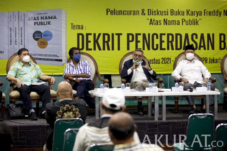 Bedah Buku Karya Freddy Ndolu, Dekrit Pencerdasan Bangsa untuk Indonesia